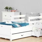 Łóżko CROSS - sosna biała lakierowana