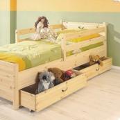 Zabezpieczenia łóżka CROSS - sosna lakierowana