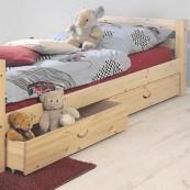 Łóżko  SOFIE 1 - ze szczebelkami - sosna lakierowana