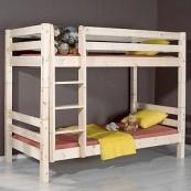 Łóżko SOFUS ze szczebelkami / piętrowe sosna surowa