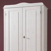 Szafa ADEL - 2D1S - sosna biała lakierowana