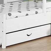 Szuflady łóżka CROSS - sosna biała lakierowana