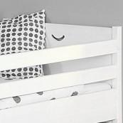 Zabezpieczenia łóżka CROSS - sosna biała lakierowana